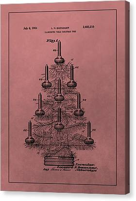 1954 Christmas Tree Patent Canvas Print by Dan Sproul