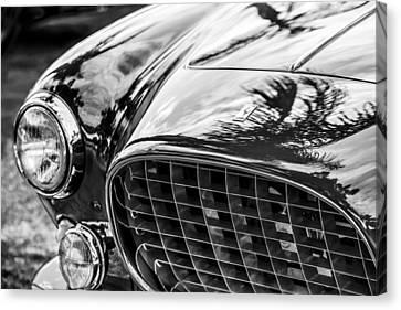 Europa Canvas Print - 1954 Ferrari Europa 250 Gt Grille -1336bw by Jill Reger
