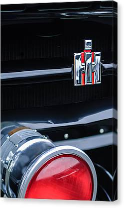 1954 Canvas Print - 1954 International Harvester R140 Woody Grille Emblem by Jill Reger