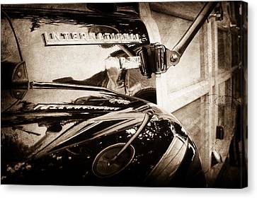 1954 International Harvester R140 Woody Wagon Emblem Canvas Print by Jill Reger