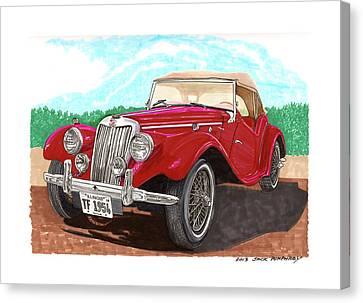 1954 M G T F  Canvas Print by Jack Pumphrey