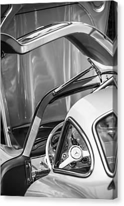 1954 Mercedes-benz 300sl Gullwing Steering Wheel -1653bw Canvas Print by Jill Reger
