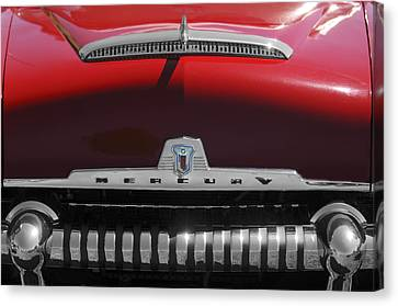 Fifties Automobile Canvas Print - 1954 Mercury Monterey Hood Ornament by Jill Reger