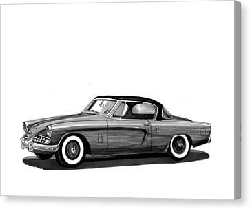 1954 Studebaker Skyliner Canvas Print by Jack Pumphrey