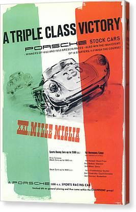 Trial Canvas Print - 1954 Xxi Mille Miglia by Georgia Fowler