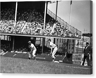 1955 Brooklyn Dodgers Jackie Robinson Canvas Print by Retro Images Archive