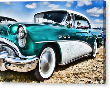 1955 Buick Canvas Print by Ron Roberts