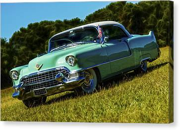 1955 Cadillac Coupe De Ville Canvas Print by motography aka Phil Clark