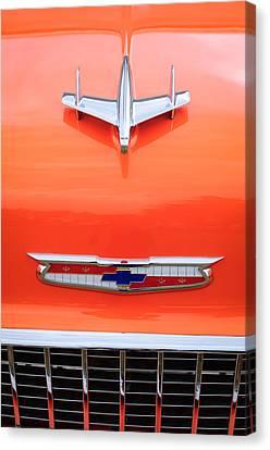 1955 Chevrolet 210 Resto Mod Hood Ornament Canvas Print by Jill Reger
