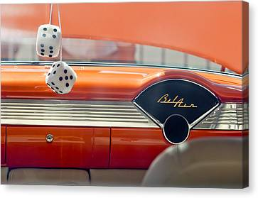 1955 Chevrolet Belair Dashboard Canvas Print by Jill Reger