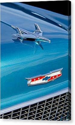 1955 Chevrolet Belair Hood Ornament 7 Canvas Print by Jill Reger
