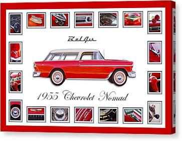 1955 Chevrolet Belair Nomad Art Canvas Print by Jill Reger