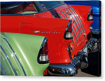 1955 Chevrolet Belair Nomad Taillights Canvas Print by Jill Reger