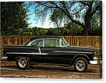 Canvas Print featuring the photograph 1955 Chevrolet Belair by Tim McCullough