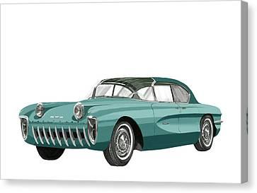 1955 Chevrolet Biscayne Concept Canvas Print by Jack Pumphrey