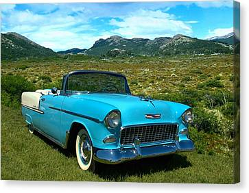 1955 Chevrolet Convertible Canvas Print by Tim McCullough