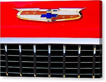 1955 Chevrolet Nomad Emblem Canvas Print by Jill Reger