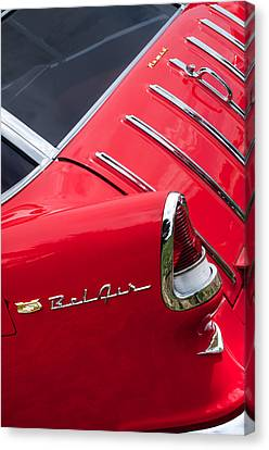 1955 Chevrolet Nomad Wagon Taillight Emblem Canvas Print