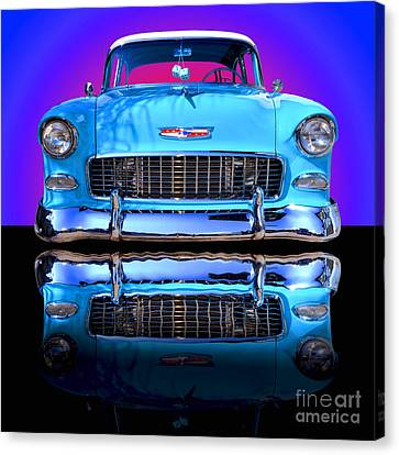 Motors Canvas Print - 1955 Chevy Bel Air by Jim Carrell