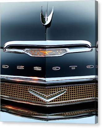 1956 Desoto Hood Ornament 2 Canvas Print by Jill Reger
