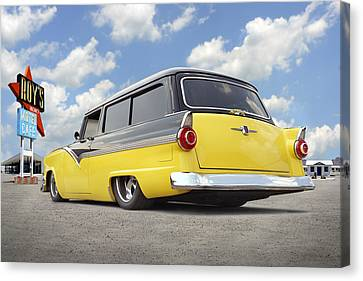 1955 Ford Parkline Low Canvas Print by Mike McGlothlen
