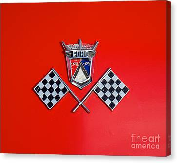 1955 Ford T-bird Logo Canvas Print