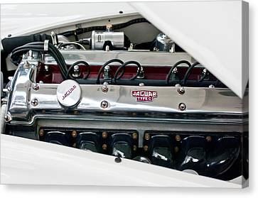 1955 Jaguar Engine Canvas Print