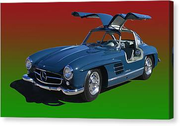 1955 Mercedes Benz 300 S L  Canvas Print by Jack Pumphrey