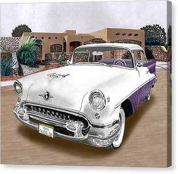 1955 Oldsmobile Super 88 Canvas Print by Jack Pumphrey