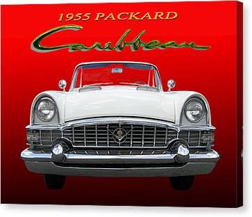 1955 Packard Caribbean Convertible Canvas Print by Jack Pumphrey