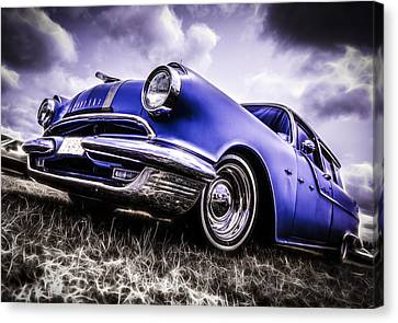 1955 Pontiac Safari Canvas Print by motography aka Phil Clark