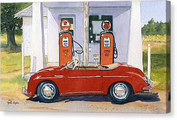 1955 Porsche Speedster Canvas Print by Heidi Gallo