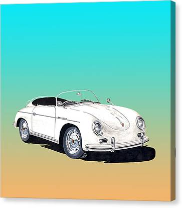 1955 Porsche Speedster Rhd Canvas Print by Jack Pumphrey