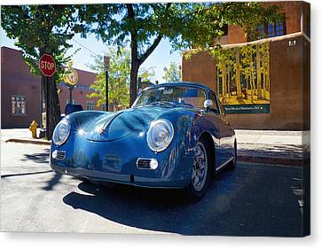 Canvas Print featuring the photograph 1956 356 A Sunroof Coupe Porsche by Mary Lee Dereske