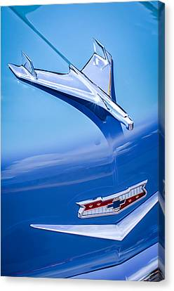 1956 Chevrolet 210 2-door Handyman Wagon Hood Ornament - Emblem Canvas Print by Jill Reger