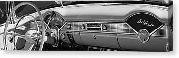 1956 Chevrolet Belair Convertible Custom V8 Dashboard Canvas Print by Jill Reger