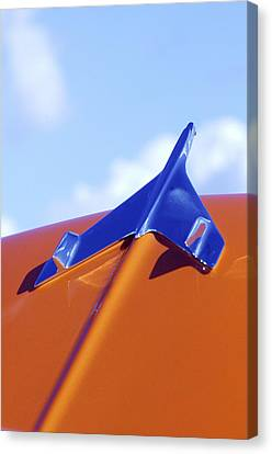 1956 Chevrolet Belair Hood Ornament Canvas Print by Jill Reger