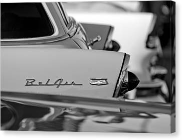 1956 Chevrolet Belair Nomad Rear End Emblem Canvas Print by Jill Reger