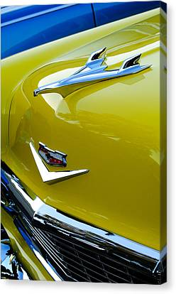 Mascots Canvas Print - 1956 Chevrolet Hood Ornament 3 by Jill Reger