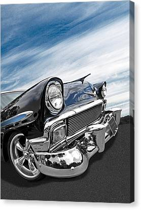 1956 Chevrolet With Blue Skies Canvas Print by Gill Billington