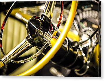1956 Chevy Bel Air Steering Wheel  Canvas Print by Shanna Gillette