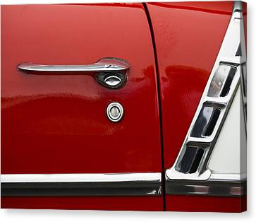 1956 Chevy Door Detail Canvas Print by Carol Leigh
