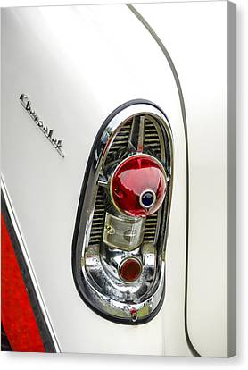1956 Chevy Taillight Canvas Print by Carol Leigh