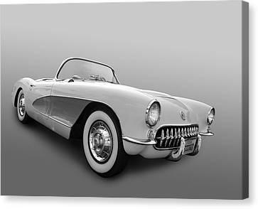 1956 Corvette Canvas Print by Bill Dutting