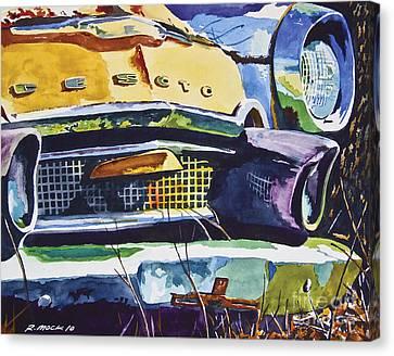 1956 Desoto Abstract Canvas Print by Rick Mock