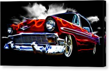 1956 Flamin Chevrolet Canvas Print by Phil 'motography' Clark