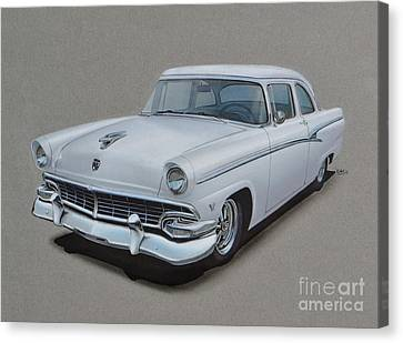 1956 Ford Customline Canvas Print