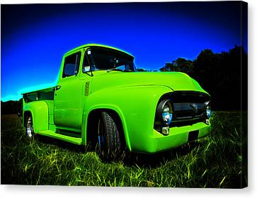 1956 Ford F-100 Pickup Truck Canvas Print by motography aka Phil Clark