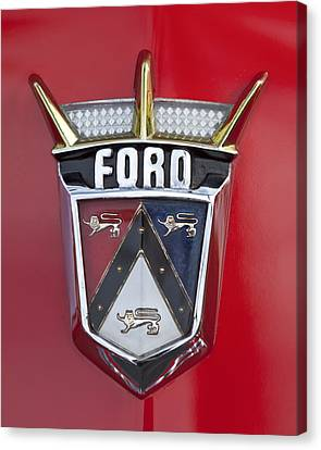 1956 Ford Fairlane Emblem Canvas Print by Jill Reger
