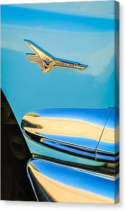 1956 Ford Fairlane Thunderbird Emblem Canvas Print by Jill Reger